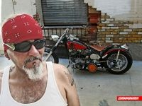 Victor and his chopper we painted for him Custom Paint, Chopper, Wayfarer, Ray Bans, Mens Sunglasses, Style, Swag, Stylus, Choppers