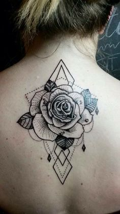#rose #tattoo #geometric #fatum