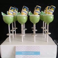 Coronarita Cake Pops with Alcohol