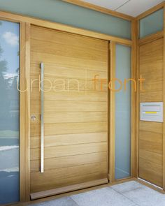 Oasis - Modern Mahogany Wood Entry Solid Door Lux Garage Doors - June 22 2019 at Wood Entry Doors, Entrance Doors, Wooden Doors, Garage Door Design, Front Door Design, Garage Doors, Closet Doors, Contemporary Front Doors, Modern Front Door