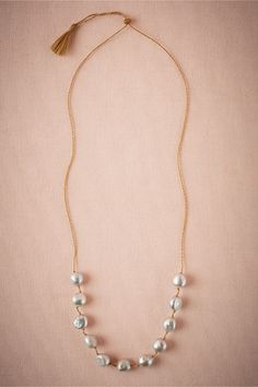 Silver-Dusted Pearl Necklace from @BHLDN