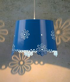 Light up your room with flowers with this children's Pendant with Flower Cut Out Detailing - Two Colours.