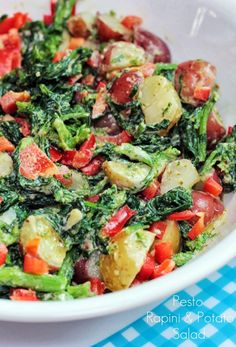 To try: Pesto Rapini and Potato Salad Update: I tried -- absolute great recipe!