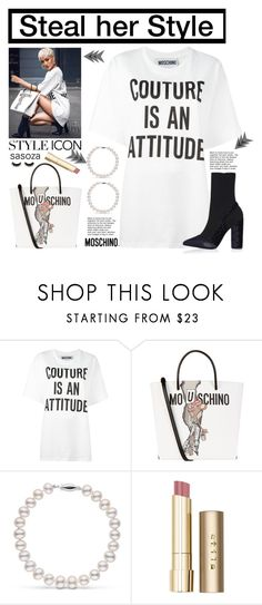 """Steal her Style by Sasoza"" by sasooza ❤ liked on Polyvore featuring Moschino and Stila"