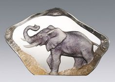 Crystal Elephant Sculpture by Mats Jonasson. Discover additional Elephant and African Animal related Home Décor Items at AllSculptures.com