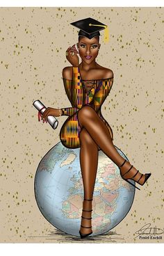 Onto of the world illustration by Peniel Enchill Black Love Art, Black Girl Art, My Black Is Beautiful, Black Girl Magic, Art Girl, Black Girls, Black Art Pictures, By Any Means Necessary, Art Africain
