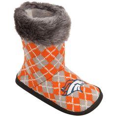 Denver Broncos Women's Argyle Fur Boot - $34.99