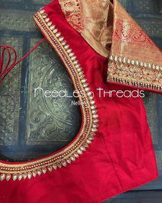 New Saree Blouse Designs, Cutwork Blouse Designs, Simple Blouse Designs, Stylish Blouse Design, Traditional Blouse Designs, Mirror Work Blouse Design, Designer Blouse Patterns, Desi Masala, Shadi Dresses