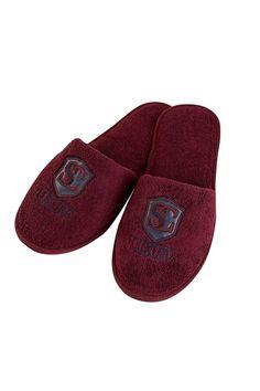 Froté papuče LUXURY v bordo farbe s gumovou podrážkou sú vhodné najmä ako doplnok k pánskym županom. Velikost 40/42 či 42/44