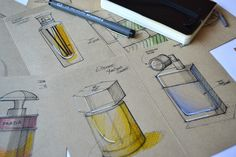perfume sketch on Behance