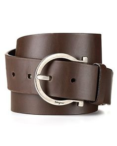salvatore ferragamo sized calf single gancini belt.