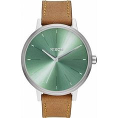 Saddle/Sage The Kensington Leather Watch by Nixon *** Check out this great product.