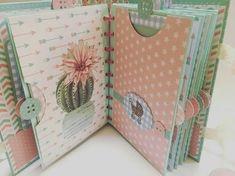 5 steps to know how to make an original scrapbook - models of how to make a scrapbook - Mini Album Scrapbook, Scrapbook Bebe, Baby Scrapbook Pages, Scrapbook Journal, Scrapbook Paper, Mini Albums, Baby Mini Album, Diy Notebook, Handmade Journals