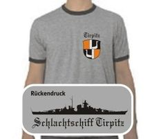T-Shirt Tirpitz II  T-Shirt Schlachtschiff Tirpitz. Das Tirpitz T-Shirt ist in den Größen S-XXL erhältlich. Auf dem T-Shirt ist das berühmte deutsche Kriegsschiff Tirpitz abgebildet. / mehr Infos auf: www.Guntia-Militaria-Shop.de