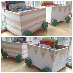 mommo design: IKEA HACKS WITH PAINT - Flisat toy boxes