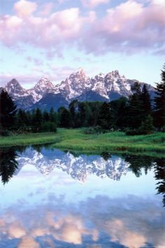 The Teton Range is a mountain range of the Rocky Mountains in North America. A north-south range, it is mostly on the Wyoming side of the state's border with Idaho, just south of Yellowstone National Park.