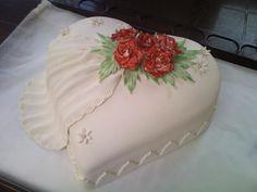 dort - Svatební srdce s růžemi / cake - Wedding heart with roses