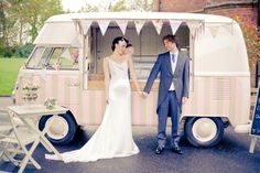 Lovely photo of our VW vintage ice cream van ~ taken by Kanashay photography http://www.pollys-parlour.co.uk/