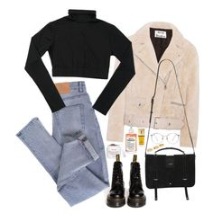 A fashion look from January 2018 featuring long sleeve turtleneck, acne studios jacket and cheap monday jeans. Browse and shop related looks. Korean Outfits, Trendy Outfits, Winter Outfits, Cute Outfits, Fashion Outfits, Womens Fashion, Cheap Outfits, Fashion Pants, 90s Fashion