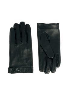 €56, Schwarze Lederhandschuhe von Selected. Online-Shop: Asos. Klicken Sie hier für mehr Informationen: https://lookastic.com/men/shop_items/135379/redirect