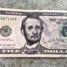 This Murray-fication Actually Doubled This Five Dollar Bill's Value. True Story.
