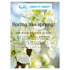 Keep all you heat sensitive items (cosmetics, meds, snacks) icy cool in our mini coolers.  Now on sale at www.cool-itcaddy.com using promo code SPRING25