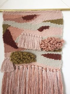 "10"" x 24"" Handwoven Wall Hanging / Tapestry Weaving (""Sestras"" series)"