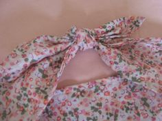 Pretty vintage style PINK FLOWER print hair by LumeLapin on Etsy, £4.00
