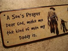 primitive country home decor | Cowboy Dad and Son Sign Country Primitive Western Home Decor Adorable ...