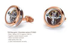 TF Est 1968 Luxury Cufflinks Rosegold Tourbillon #Swiss #Craftsmanship