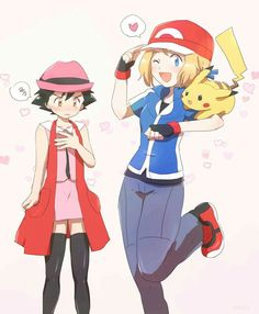 Ash and Serena #Amourshipping