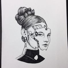 Available to tattoo. Taking bookings for London and Switzerland  alexodisy@gmail.com  #westworld #dotwork #cyborgtattoo