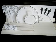 pop-up Easter scenes for Sunday school