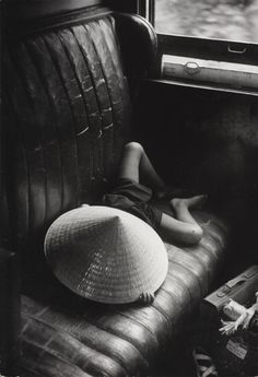 Werner Bischof - The Rafale, an escorted armored train that made regular journeys between Saigon and Nha Trang, 1952. °