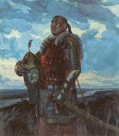 Viktor Matorin. Khan Mamai. 2004    Mamai (Tatar: Мамай, Mamay, 1335 - 1380) Chinese Armor, Medieval World, Medieval Fantasy, Genghis Khan, Asian History, Ukrainian Art, Total War, Mongolia, Russian Painting