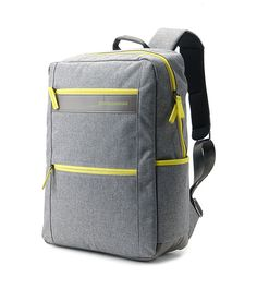 Stylish light weight backpack using cotton fabric. Inner compartment for notebook. Use for school bag and for work   Color: Gray Size: 30cm(W), 42cm(H),