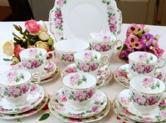 CROWN STAFFORDSHIRE Trinity Rose Vintage Tea Set http://www.cakestandland.co.uk