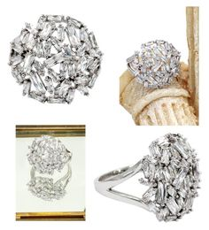 """""""Fashion small square crystal silver ring"""" by oceanfashion on Polyvore"""