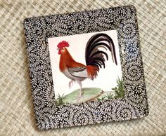 rooster and chicken decorations for kitchen | Roosters Kitchen Decor / Rooster Plate / Rooster Art / Decoupage Plate ...