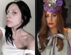 Lady Gaga posts makeup free photo on her website Little Monsters on July 22, 2013.