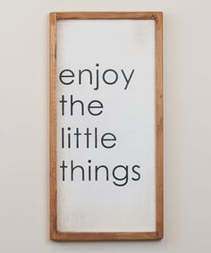Another great find on #zulily! Black & White 'Little Things' Wall Sign #zulilyfinds