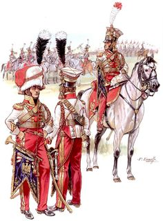 """Napoleon's Red Lancers: Trumpeters"", Patrice Courcelle"
