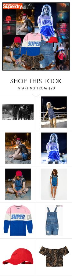 """""""Superdry contest: The Night is Young!"""" by leannesugarplum ❤ liked on Polyvore featuring Superdry"""