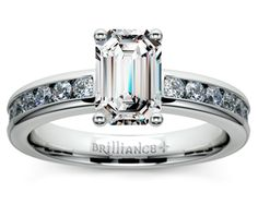 Emerald Channel Diamond Engagement Ring in Platinum http://www.brilliance.com/engagement-rings/channel-round-diamond-ring-platinum-1/2-ctw
