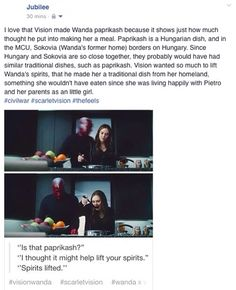 Wanda Maximoff and Vision ~   They're so cute!!!!