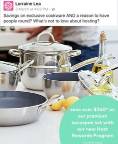 Beautiful new cookware available now get yours half price ask me how!