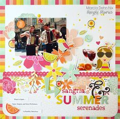 Layout from creative team member Marcia Dehn-Nix using our Sunshine & Happiness collection