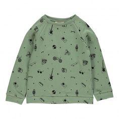 NYC Sweatshirt Green clay  Hundred Pieces