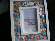 Shell Beach Frame 4 x 6 Abalone Shell Seashell by breakitupdesigns, $25.00