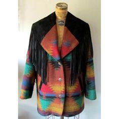 Vintage 80s Fringe Coat /Southwest Blanket by EstherWooVintage, $65.00